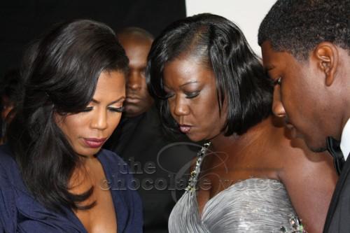 Omarosa Manigault-Stallworth, Sabrina Fulton (Trayvon Martin's  Mom)  and Jahvaris Fulton (Trayvon's brother)  at the 44th NAACP Awards