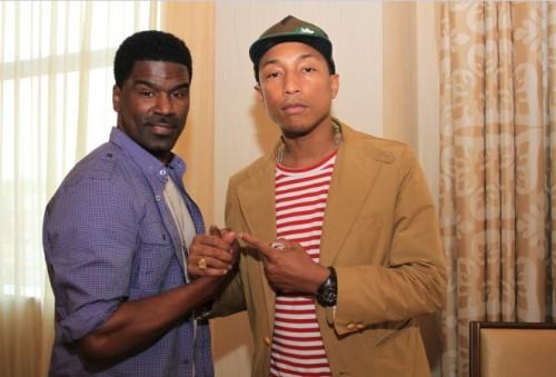 Award winning singer-songwriter, producer - Pharrell Williams and singer Glenn Lewis/Photo credit: Tito G. of Totallivision