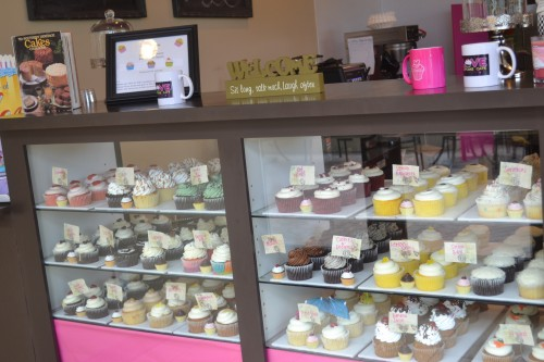 The delicious selection at Love Cupcake Cafe Photo Credit:Gwen Pierce