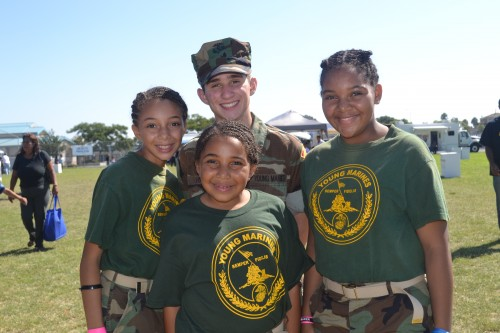 Members of the San Diego Young Marines