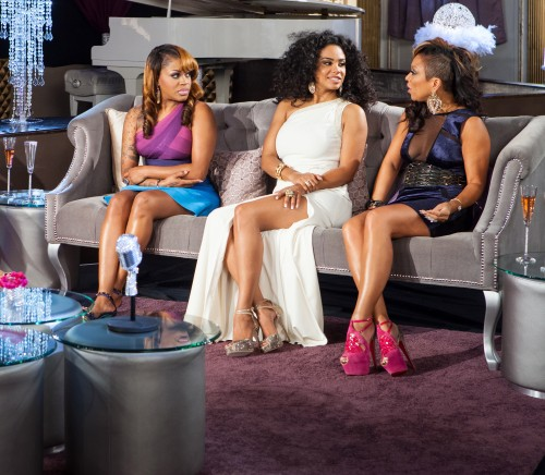 (L to R) Lil Mo, Claudette Ortiz and Chante Moore