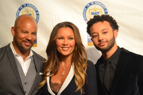 Honoree, GRAMMY Award winner Vanessa Williams, received the Trailblazer Award  Walked the red carpet with her brother, Chris Williams and her son, Devin Hervey.