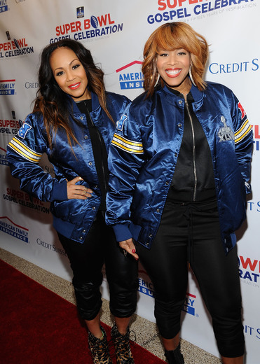 Erica Atkins-Campbell and Tina Atkins-Campbell, of gospel duo Mary Mary Photo Credit - Getty Images for Super Bowl