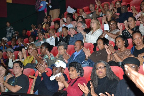 """Members of the audience enjoy screening of """"Still Bill"""" featuring, Bill Withers, at the 2014 San Diego Black Film Festival."""