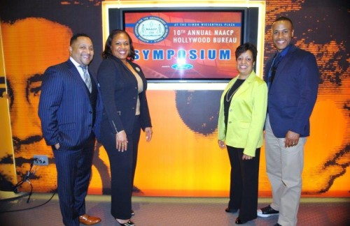 CAA Agent Cameron Mitchell,  Ford Representative, Angela H. Polk Program Manager, Community Development for Ford Motor Company Fund. and Senior VP of production for Columbia Tristar Pictures Devon Franklin.