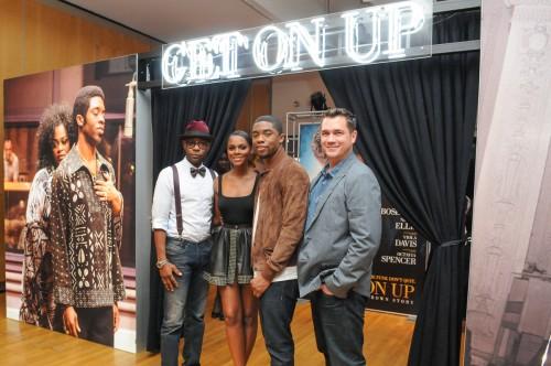 Actors: Nelson Ellis, Tika Sumpter, Chadwick Boseman and director Tate Taylor.