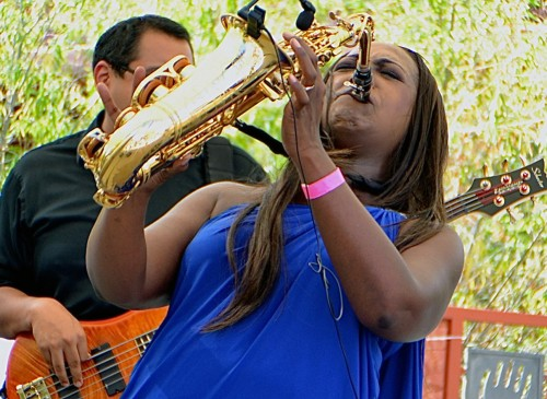 Saxophonist Jeanette Harris.  Photo credit: Trevor Jacobs