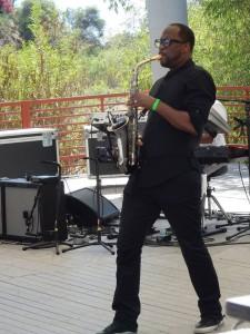 Saxophonist, J. White
