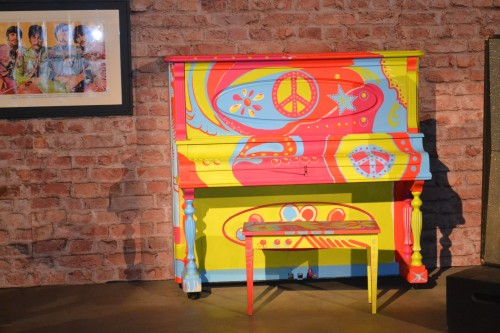 This years theme for the San Diego County Fair was:  FAB Fair emphasizing the invasion of the British Pop culture in America - Love this funky piano!