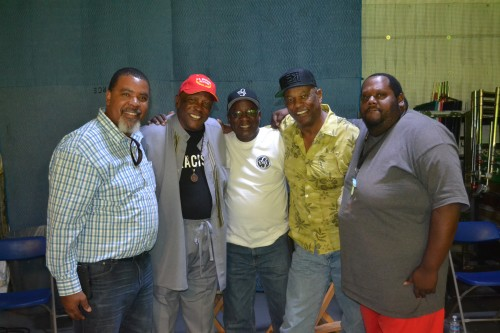 Terry Mack, Louis Gossett, Jr., Alex Brown, Tony Brubaker and Mark Richardson.