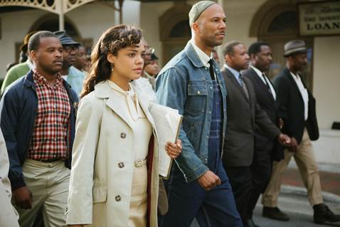 Actress Tessa Thompson and Actor/Rapper Common, star in SELMA.