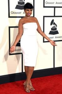 Jennifer Hudson at the 57th Grammy Awards.