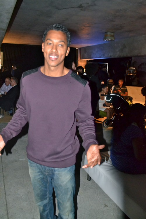 Wesley Jonathan, who plays Burrell Stamps Ballentine, was onhand to celebrate the shows success. Photo:  Gwen Pierce/The Chocolate Voice.