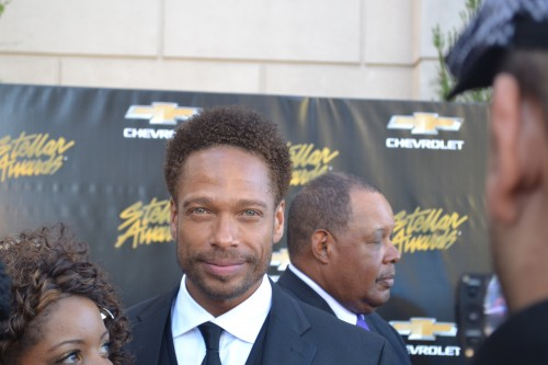 Gary Dourdan, Being Mary Jane, attended the Stellar Awards show.
