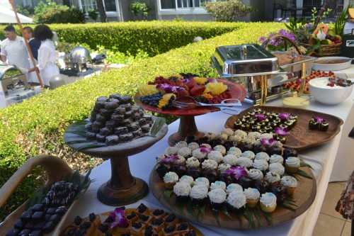Chef Jeffrey Strauss of Pamplemousse Grill, has a flair for colorful and tasty desserts!