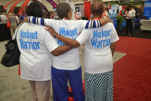 """Workout Warriors who attended the AARP conference say, """"Getting in a good workout is important at any age."""""""