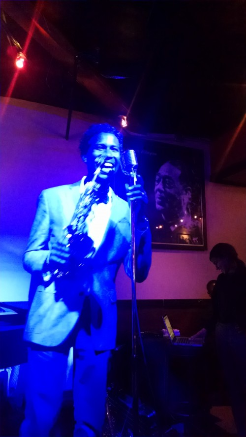 Acclaimed Sax player JBoykin performing live on Blue Mic Night.