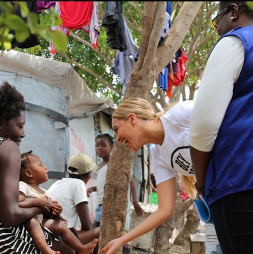 Beyonce in Haiti/Photo Instagram