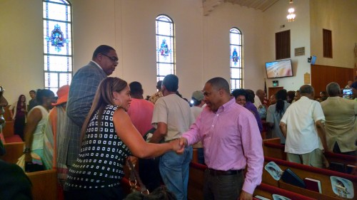Clergy encouraged community to get to know one another.