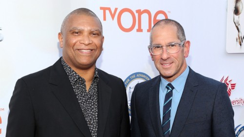 PASADENA, CA - FEBRUARY 06:  Executive producers Reginald Hudlin (L) and Phil Gurin attend the 46th NAACP Image Awards presented by TV One at Pasadena Civic Auditorium on February 6, 2015 in Pasadena, California.  (Photo by Jesse Grant/Getty Images for NAACP Image Awards)