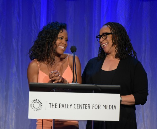 BEVERLY HILLS, CA – OCTOBER 26, 2015 (L-R): Regina King and S. Epatha Merkerson attend The Paley Center for Media's Hollywood Tribute to African-American Achievements in Television, presented by JPMorgan Chase & Co., on Monday, October 26 at the Beverly Wilshire Hotel in Beverly Hills, California Photo credit: The Paley Center for Media