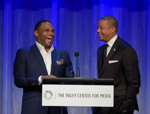 BEVERLY HILLS, CA – OCTOBER 26, 2015 (L-R): Anthony Anderson and Terrence Howard attend The Paley Center for Media's Hollywood Tribute to African-American Achievements in Television, presented by JPMorgan Chase & Co., on Monday, October 26 at the Beverly Wilshire Hotel in Beverly Hills, California Photo credit: The Paley Center for Media