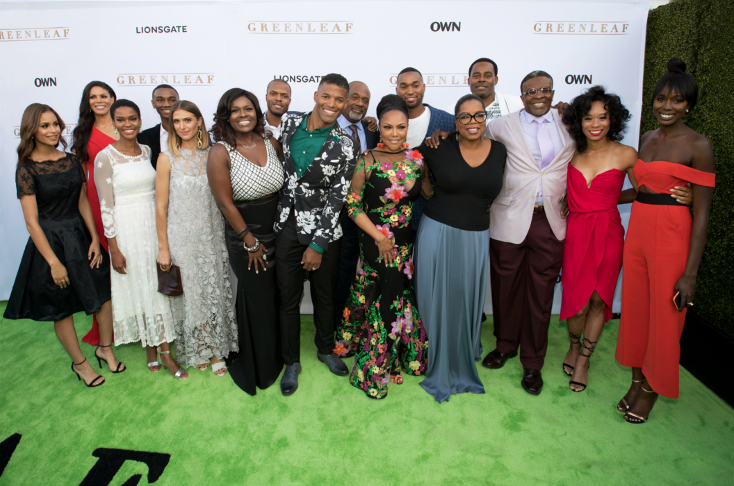 See full caption in email - Cast of Greenleaf at OWN Los Angeles Premiere of Greenleaf_PhotoCredit Getty Images _ Mark Davis_ MWD16004_r1