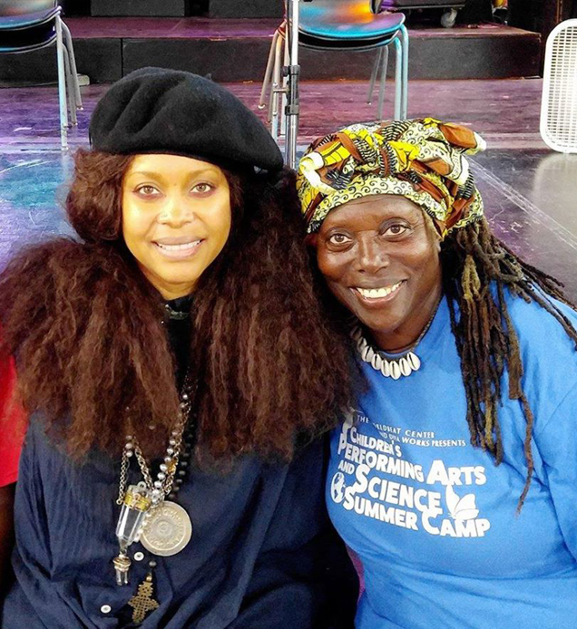 via Facebook: Erykah and World Beat founder Makeda