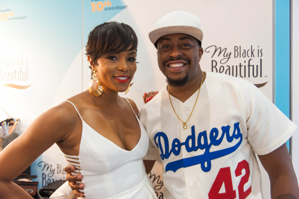 Singers LeToya Luckett and Raheem DeVaughn at the My Black is Beautiful Booth at Essence Festival 2016.jpg/Photo credit: MBIB