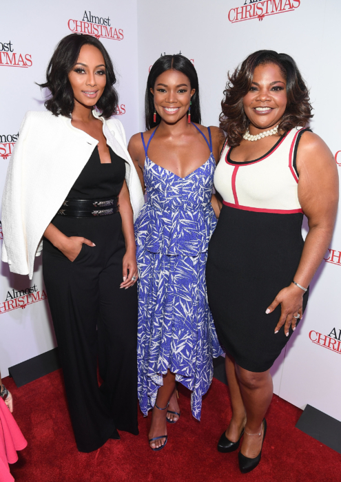 """ATLANTA, GA - OCTOBER 26: Keri Hilson, Gabrielle Union, and Mo'Nique attends """"Almost Christmas"""" Atlanta screening at Regal Cinemas Atlantic Station Stadium 16 on October 26, 2016 in Atlanta, Georgia. (Photo by Paras Griffin/Getty Images for Universal Pictures)"""