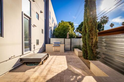 Back Patio with Built-in BBQ