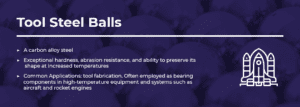 tool steel balls information