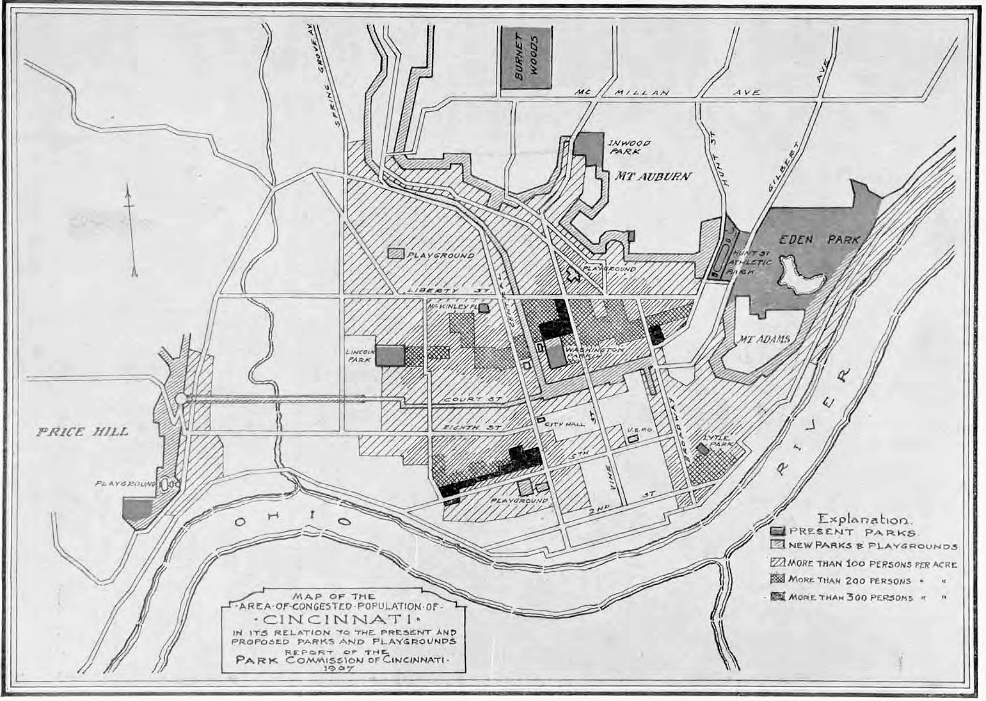 Kessler Plan 1907 History of Cincinnati Riverfront