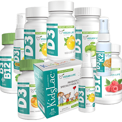 Vegan Life Nutrition products montage