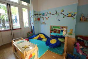 gli spazi alla scuola dell'infanzia