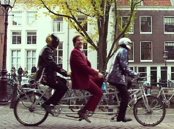 Will Ferrell a.k.a. Ron Burgundy tours Amsterdam with Daft Punk