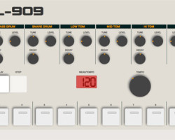 Play a Roland TR-909 in your browser