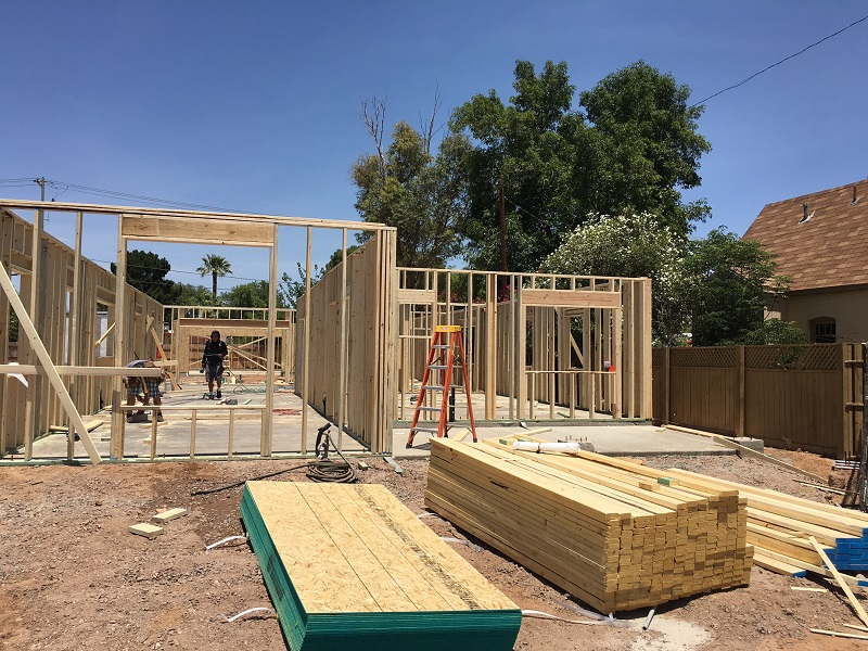 Pinchot Spec homes are being framed!