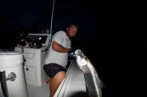 Night time tarpon fishing
