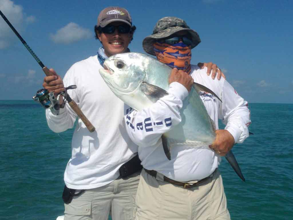 Permit caught on the flats in the Marquesas Keys