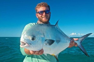 Capt. Kelso with a Key West Permit