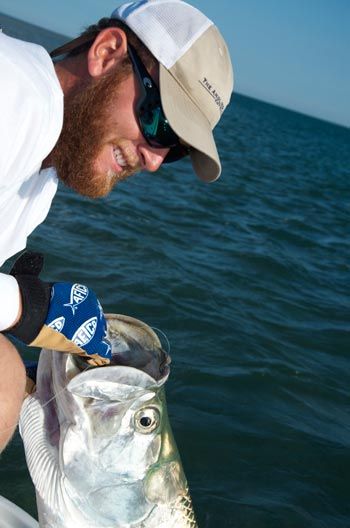Capt. Kelso with a tarpon