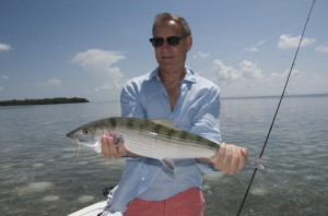 Bonefish caught while flats fishing in Key West