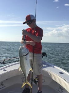 Jack crevalle caught in the shallows