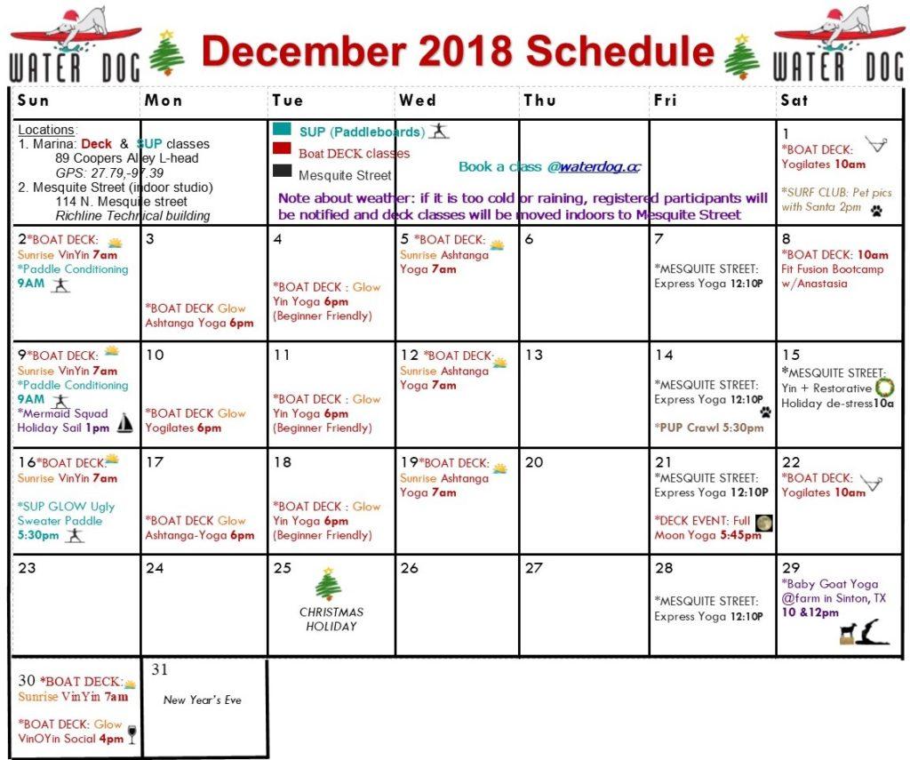 Water Dog calendar