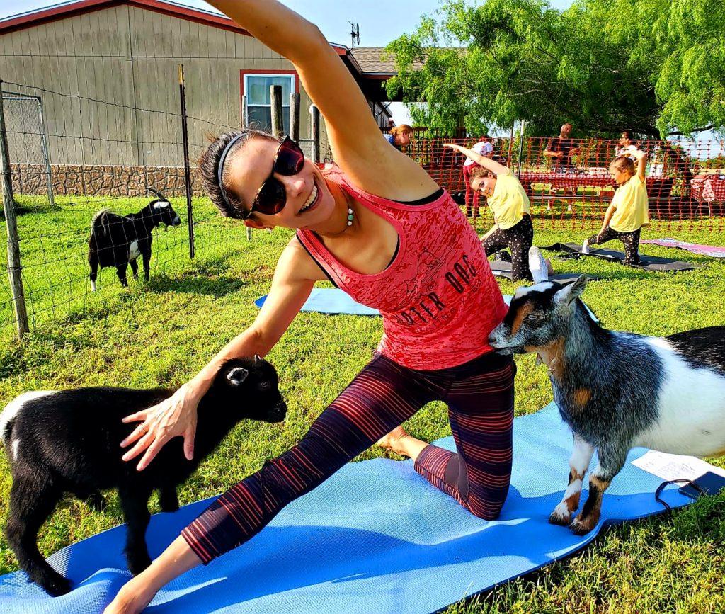 Baby goat Yoga