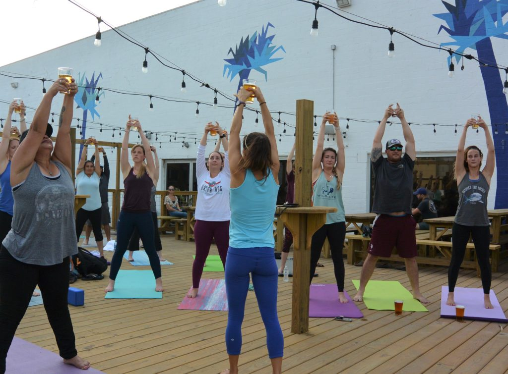 Beer Yoga at Nueces Brewing