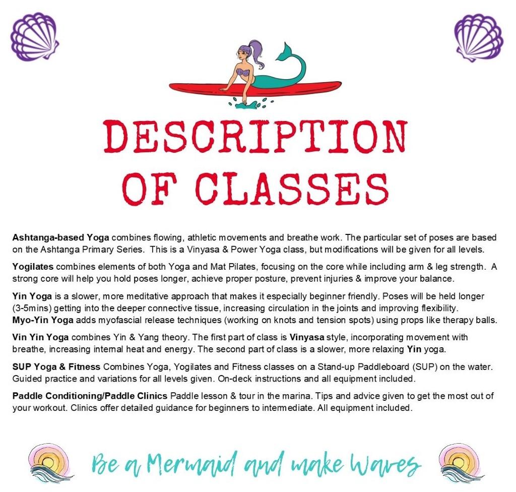Description of yoga classes. Water Dog Yoga Corpus Christi, TX