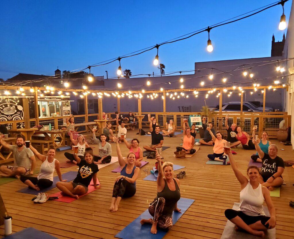 Beer Yoga at Nueces