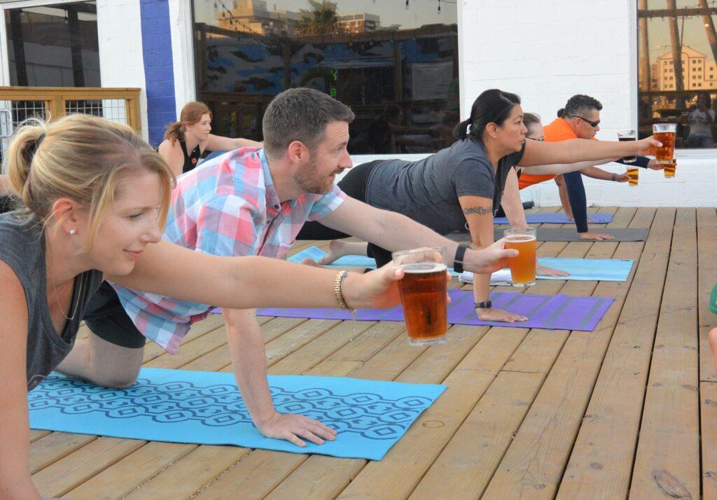 Beer Yoga at Nueces Brewing